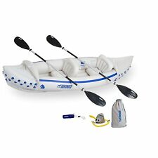 Inflatable Kayak Oars Set 2 Person Water Craft Canoe River Lake Pump Carry Bag