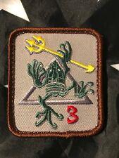 NAVY SEAL Team 3 DEVGRU Frogman Armband Hook/Loop Patch