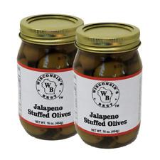 Wisconsin's Best Jalapeno Stuffed Olives 16oz. (2 Pack)