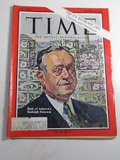 Time Magazine- December 30, 1966- Rudolph Peterson