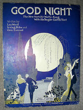 1923 GOOD NIGHT (Novelty Waltz with Bugle Call) Sheet Music by Wood, Bibo Conrad
