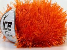 Orange Eyelash Yarn Ice Fun Fur 50 gram 80 yards 22757