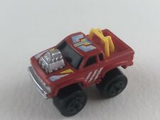 Small Micro Machine Style Red Pickup Truck Yellow Roll Bars Shaker Engine Milton