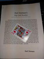 Karl Norman's KEY CARD ROUTINE Magic Trick