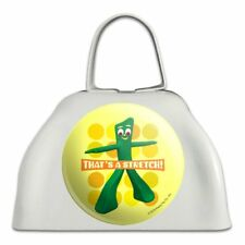Yoga Gumby That's a Stretch White Metal Cowbell Cow Bell Instrument