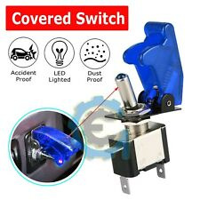 Spst Blue Led Light Metal Tip Toggle Switch 12v 20a Onoff Automotivecarboat