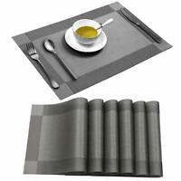 Placemats Heat-Resistant Table Placemats Placemats Washable Table Mats Set Of 6