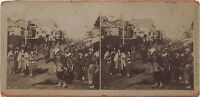 Giappone Japan Isezakicho, Il Bowery Of Yokohama Vintage Albumina 1896