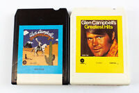 Glenn Campbell: Greatest Hits & Rhinestone Cowboy 8 Track Tapes