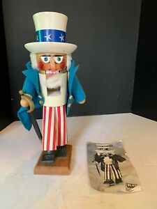 Vintage 1983 Steinbach Uncle Sam Wooden Nutcracker Made In West Germany