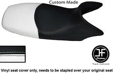 BLACK & WHITE VINYL CUSTOM FITS HONDA XL 125 01-12 VARADERO SEAT COVER ONLY