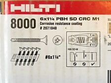 "HILTI DRYWALL SCREW 6 X 1-1/4"" PBH SD CRC M1 #2071040 8000 QTY NEW IN BOX"