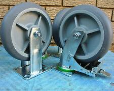 "4 x 8"" Hi-Tech Porma Castor Wheels Set 2 x Swivel With Break & 2 x Rigid $79.99"