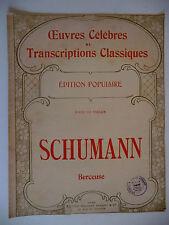 Partition alt partitur sheet music = Berceuse de Schumann
