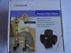 Homecraft Wooden chair raisers New in Box with Instructions