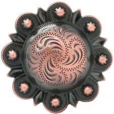 "Berry Concho 1-3/4"" Antique Copper Screw Back 7865-10"