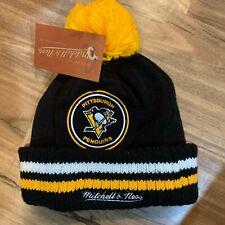 NHL Mitchell & Ness NHL Pittsburgh Penguins Black Knit Hat