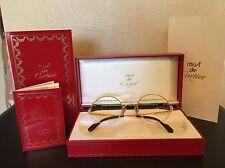 Vintage CARTIER Women's Gold Eyeglasses in Original Box w/certificate