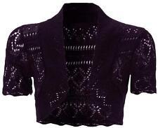 New Womens Plus Size Crochet Fishnet Bolero Knitted Cardigans 8-26