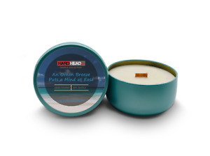Aroma Ocean Breeze - Soy Candle with Crackling Wood Wick & Essentials Oils