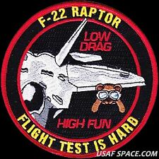 USAF 773RD TEST SQUADRON -F-22 LOW DRAG- Edwards AFB - ORIGINAL AIR FORCE PATCH