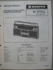 SANYO m9704l PORTABLE STEREO RADIO CASSETTE RECORDER service manual