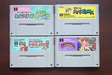 Super Famicom SFC Yoshi island Wonder Project Panel de Pon Picross Japan 4 games
