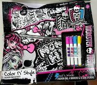 - DAMAGED BOX - Tara Toy - Monster High - Color N Style Fashion Bag Activity