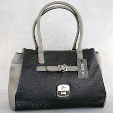 New GUESS Purse Womens Handbag Daysha Satchel Bag Black Multi Logo Sac NwT Bolso