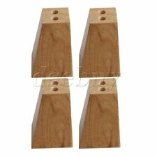 4 Pieces Wood Color Unfinished Square Solid Wooden Sofa Legs for Furniture