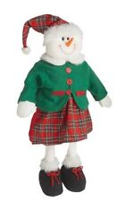 "28"" Snowman Standing Porch Greeter Window Display Xmas Home Decor Girl"