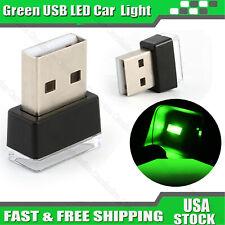 Mini Usb Green Led Car Interior Light Neon Atmosphere Ambient Decoration Lamp Us