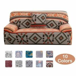 Sofa Cover Printed Stretch Couch Cover Geometric All-inclusive Slipcover Protect