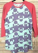 SMALL LuLaRoe Disney Collection Randy Minnie Mouse Mint Pink Purple Striped