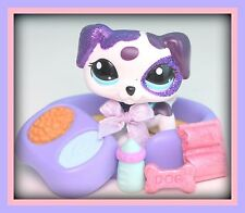 ❤️Littlest Pet Shop LPS GLITTER Dalmatian #2126 ~ Avery DOG Accessories LOT❤️
