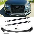 For Audi A3 A4 A5 A6 A7 B8 S4 S5 Front Bumper Lip Spoiler Splitters Strut Rods