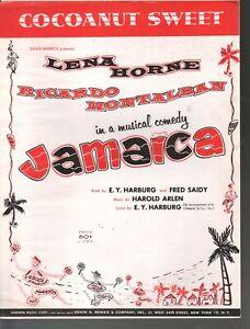 Cocoanut Sweet 1957 Lena Horne Jamaica Sheet Music