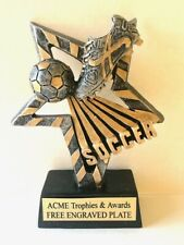 """Soccer Resin Trophy 6"""" tall with Free custom engraved plate"""