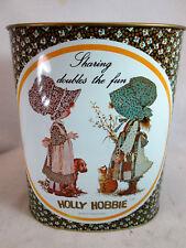 Vintage 1970's Cheinco Holly Hobbie metal waste basket garbage can
