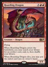 4X Hoarding Dragon -LP - M15  2015 Core Set  MTG Magic  Red  Rare