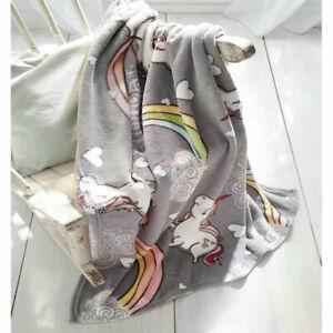 Einhorn Drucken Schlafdecke Kuscheldecke Wohndecke Bettdecke Überdecke Polyester