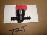 """Fuel Shut Off Valve 1/4"""" nipples for many engines Brigg and Stratton"""