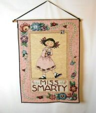 "Mary Engelbreit ""Miss Smarty"" Girl Tapestry Wall Decor Wall Art 17""x25"""