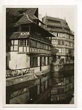 Strasbourg : maisons des bords de l'Ill, Petite France c. 1935 - Photo vintage