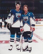 WAYNE GRETZKY & MARIO LEMIEUX 8X10 PHOTO ALL STAR NHL PICTURE HOCKEY