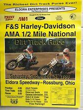 Harley-Davidson Racing Eldora Speedway Flat Track Race Poster Man Cave Picture