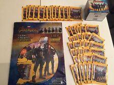 LOT AVENGERS INFINITY WAR ALBUM + 55 POCHETTES PANINI STICKERS MARVEL