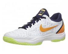 NEW Sz 5 Nike Air Zoom Cage 3 HC Tennis Shoe White/Orange 918193-180