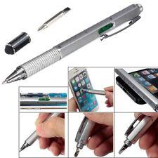 Hot 6In1 Metal Multi Tool Construction Pen Spirit Level Screwdriver Ruler Useful
