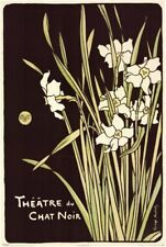 FLOWERS ~ THEATRE DU CHAT NOIR ~ 24X36 ART POSTER ~ NEW/ROLLED!